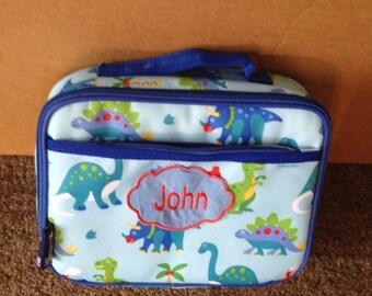 Boys Dinosaurs Theme Lunch Box School Daycare Preschool Kindergarten Toddler Free Personalized
