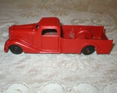 Metal Masters Tow Truck Red Vintage Die Cast Toy 1940s Man Cave Decor
