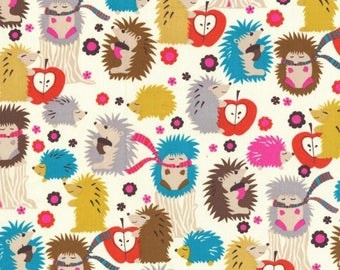 Hedgehog Meadow Cream by Michael Miller Fabrics 100% Quilters Cotton Available in Fat Quarter, Half Yard, Yard CX4422-CRM