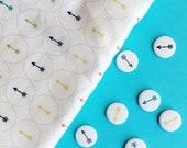 Colorful Linen Arrow Pins - Set of 3 - You choose the colors