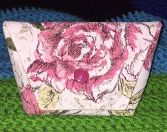 RESERVED Vintage 1950s Barkcloth clutch