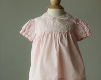 ON SALE 1950s Spring Leaf Dress~Size 3 Months