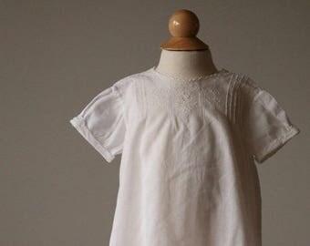 25% OFF SALE 1940s Heirloom Batiste Cotton Dress~Size 6 Months