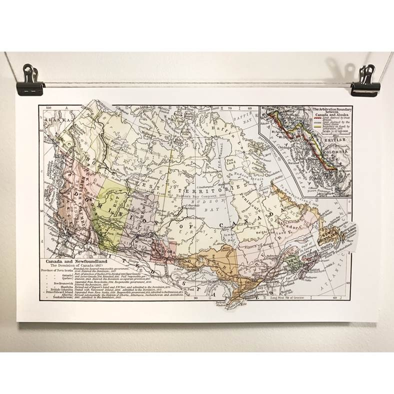 Canadian Map Before Confederation%0A Map of Canada Confederation Antique Map Canada    Eco Canadian