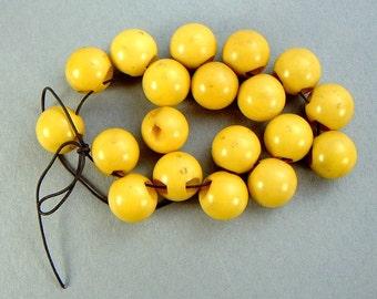 BAKELITE BUTTONS 19 vintage Beige ecru color round speres 1/2 in diameter great condition