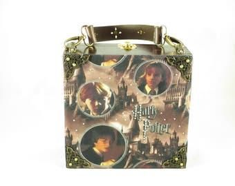 Harry Potter, Hermione Granger, Ron Wesley, Hogwart's, Cigar Box Purse, Box Purse, Handbag, by San Cristobal Cigars Item # 786