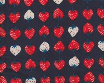 Cotton + Steel Kimberly Kight Yours Truly Strawberries in Red - Half Yard