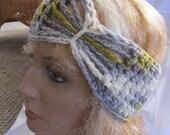 SALE - Frond Butterfly/Bow Accent Winter Earwarmer Headband