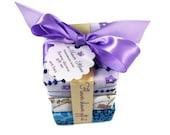 Soap Gift -  Flower Shower Soap gift set - wrapped soap gift - 3 soap vegan gift set - flower soap set