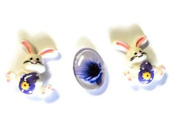 Easter Magnet Set, Bunnies & Egg Magnet Set, Home Decor