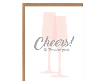 Cheers to the new year -- Happy New Year Card