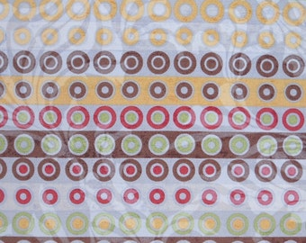Cotton quilting print - 1/2 yard of blue dotty stripe from Urban Couture by Basic Grey
