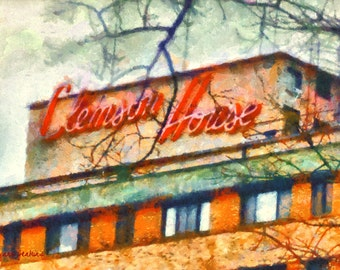 Clemson House - Giclee' Print on Watercolor Paper