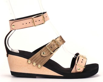 Mid Triple Strap Sandal - Responsibly Made in the USA - Cruelty Free - Eco Friendly