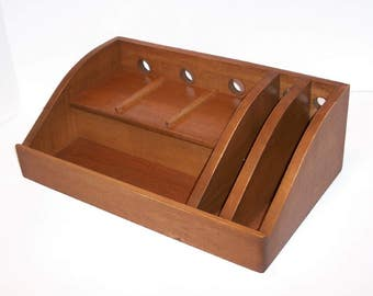 Charging Station / Docking Station with slots for iPad, Kindle, Nook, iPhone, cell phone Handcrafted in Maple with attached power strip
