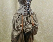 """SALE Aviator Belle Steampunk Military Overbust Lace Front and Back Corset-to fit 29-32"""" natural waist"""