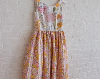 Spring Tea Dress {mixed bouquet } size 4-6 /On Sale