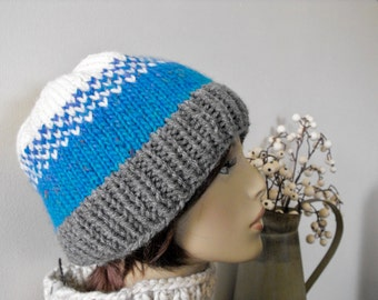 Woman's Hand Knit Hat Trendy Ski Winter Women's Teenagers