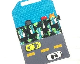 Car storage | travel toy | activity mat | Hot wheels | Matchbox | Toy holder | Toddler gift | car organizer | Quiet book | Dinosaurs