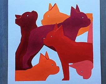 Boston Terrier Art /Boston Terrier Painting / Boston Terriers / Boston Terrier Gift
