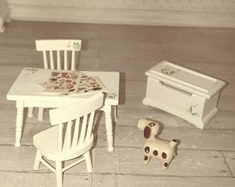 Miniature dollhouse set , children room
