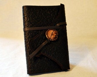 2017 Bison Leather Planner with Leather Tie- Refillable