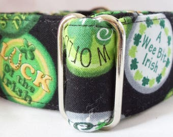St Patty's Day Greyhound, Whippet, Galgos Martingale Collar