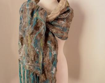 felted wrap by plumfish ultra fine Australian Merino Wool
