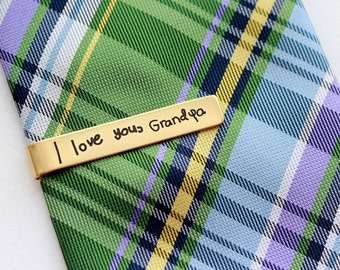 Engraved Handwriting Tie Clip - Custom Engraved Tie Bar Personalized Gift for Men Custom Tie Bar Engraved Tie Clip Handwriting Engraved Gift