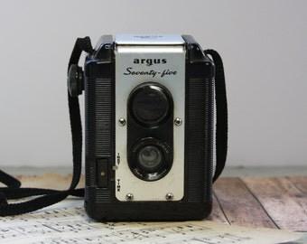 Vintage Argus 75 CAMERA- Vintage Photography- Industrial Design- Lens Viewfinder- Argus Seventy Five- 620 Film- E20