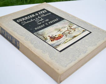 """LARGE """"Currier & Ives"""" Hardback Book"""