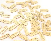 Gold fill Branding Tags - Custom Hand-stamped