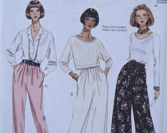 1990s McCall's 8001 Easy Sewing Pattern Misses' Pull-On Pants with Side Seam Pockets UNCUT Factory Folds Sizes Large/X-Large