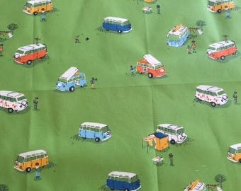 On Sale. RARE. Heather Ross Spoonflower VW buses