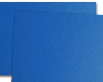 CC Cobalt Blue 80lb cover weight Card Stock 8.5x11 - 25 sheets