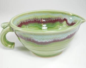 Batter Bowl - Gravy Boat Pottery - Ceramic Mixing Bowl - Bowl Batter - Gravy Boat - Handmade Mixing Bowl - Gravy Boat Ceramic - In Stock