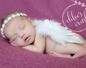 White angel Baby wings, newborn wings, butterfly wings, fairy wings, newborn girl, newborn photo prop, wings, new baby girl, newborn