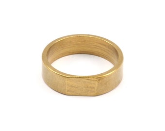 Brass Ring Setting - 5 Raw Brass Ring Settings (22mm) Mn57