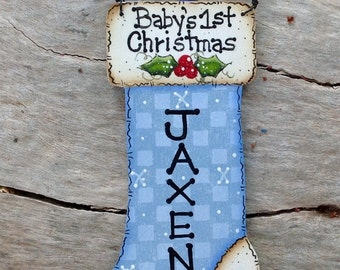 Personalized Baby's 1st Christmas Ornament