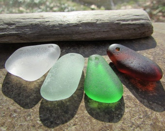BEACH GLASS Pendants Charms Sea Glass Charms Pendants MULTI Colors Dangles