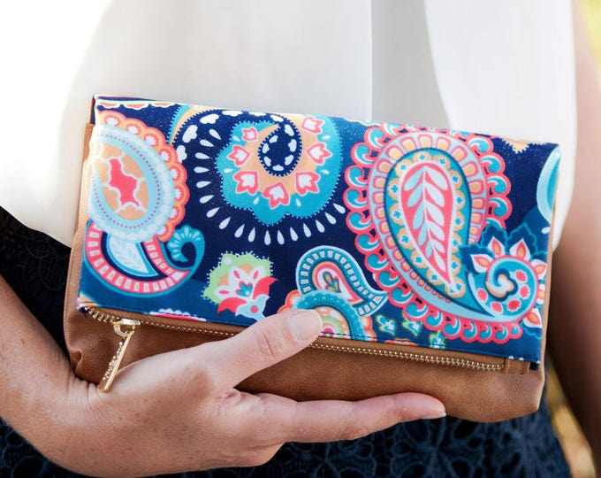 paisley cross body bag purse leather-like pocketbook womens clutch travel accessories back to school gifts Outer Banks BeachHouseDreamsOBX