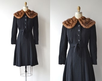 Grafton Court coat | vintage 1930s coat | fur collar wool 30s coat