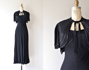 Doublespeak dress & bolero | vintage 1930s dress and jacket | beaded 30s dress