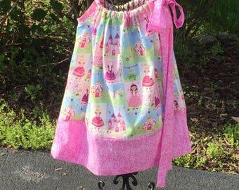Princess Pillowcase Pink Pillowcase Dress Little Girls Custom Made Dress Size 2t 3t 4t 5t Pillowcase Dress Summer Dress