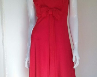 Vintage 60's Red Terry Dress size Small