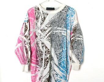 CRAZY Vintage All Over Print Sweatshirt by WESTSIDE Graffiti Abstract Paint Splatter