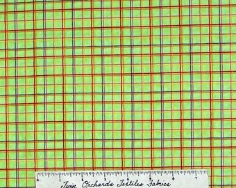 Plaid Fabric Bright Green Red Yellow Purple Good Vibrations SSI Quilt Cotton Yd