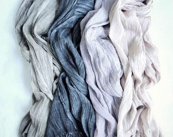 Linen hemp shawl