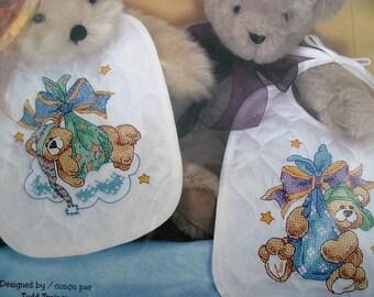 Dimensions Baby Hugs  Cross Stitch Bib Kit
