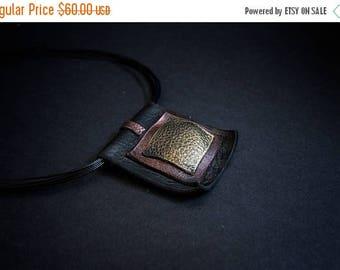 40% OFF SALE Stylish leather necklace Pendant Designer jewelry Elegant statement necklace Geometric jewelry